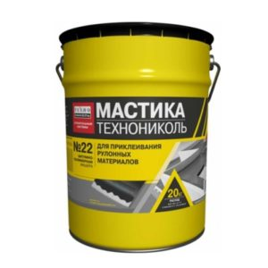 Мастика приклеивающая ТЕХНОНИКОЛЬ №22 Вишера ведро 20 кг