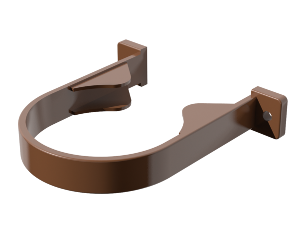 Хомут крепления трубы -коричневый